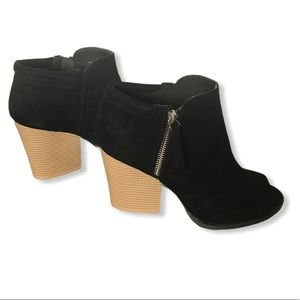 QUPID Open Toe Ankle Heel Boots Size 10